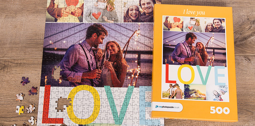 Teaser: Photo Puzzle with Message collage