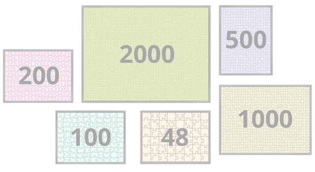 Frames for puzzles from 48 to 2000 pieces