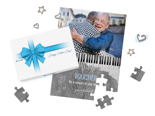 Gift Voucher Puzzle for your father