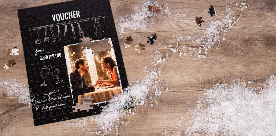 Gift voucher puzzle cooking class