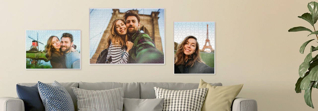Jigsaw frame for your photo puzzle
