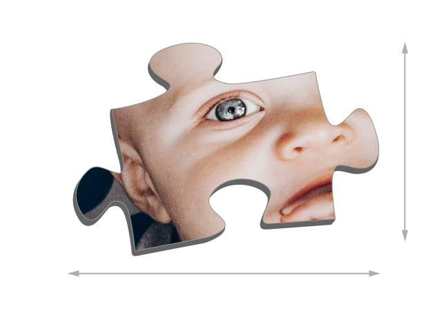 Size of the pieces