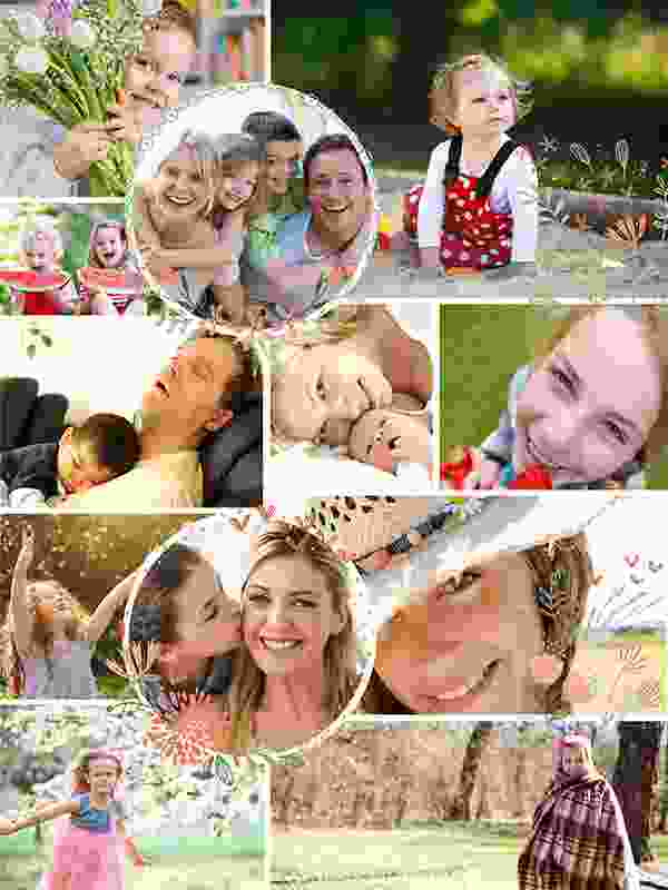 Photo Puzzle with Illustration collage 12 Photos