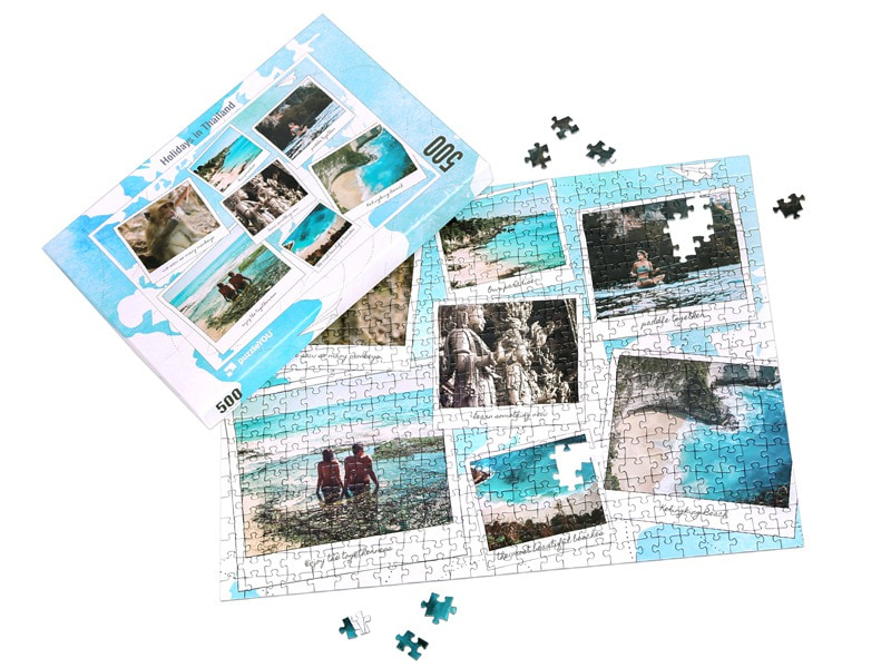 Box photo puzzle 500 pieces vacation