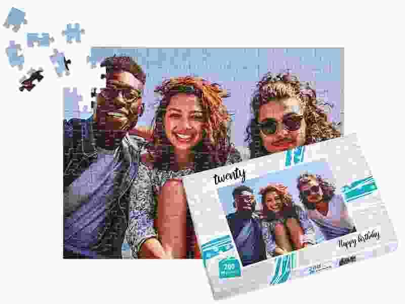 Box photo puzzle 200 pieces friends