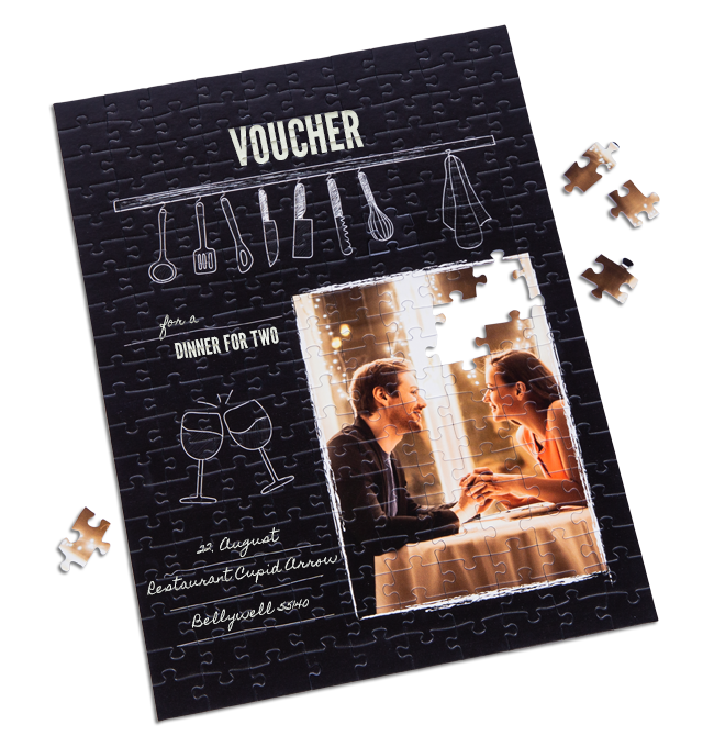 Gift voucher puzzle cooking class dinner for two