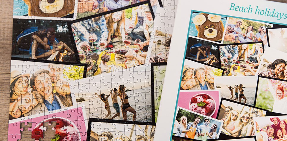 Teaser: Photo Puzzle with Overlapping collage