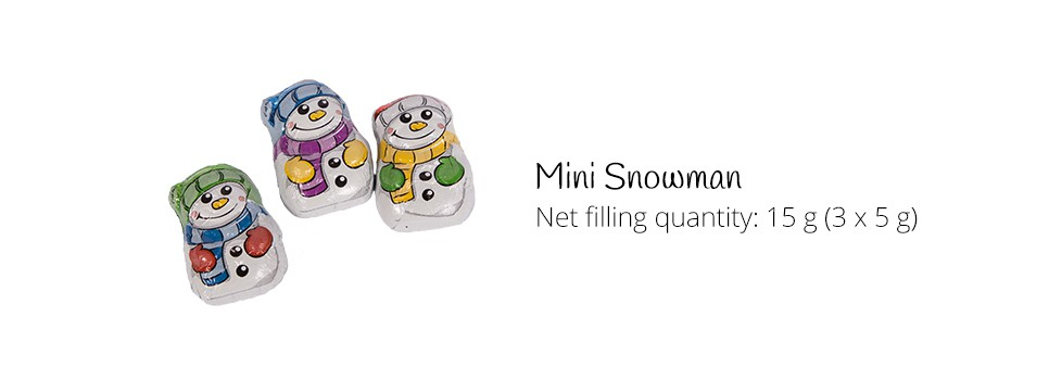 Mini Chocolate Snowman