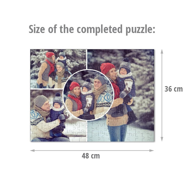 Size of the completed puzzle