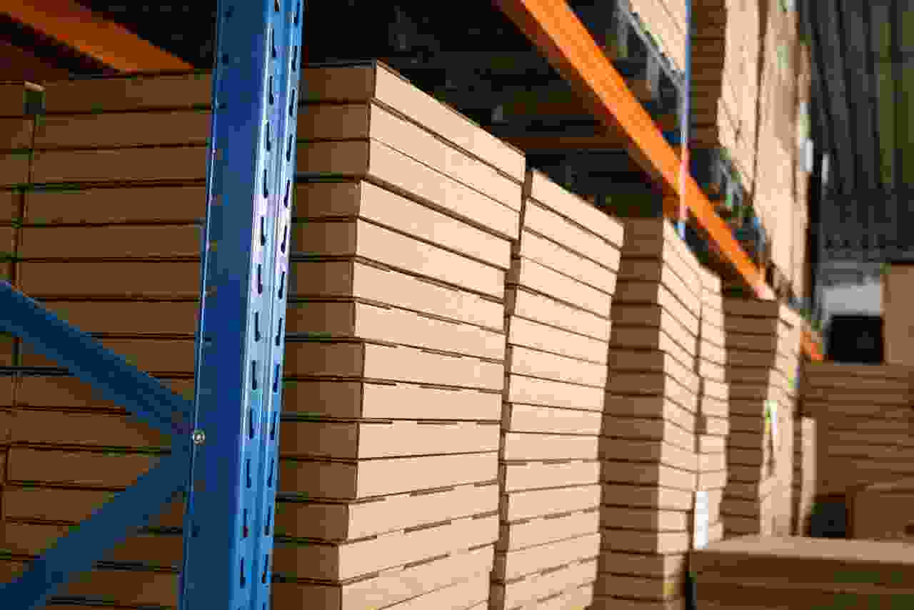 Our high rack warehouse for storing puzzle frames