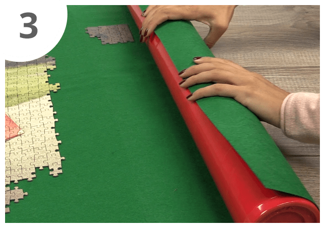 Instructions for puzzle mat - step 3