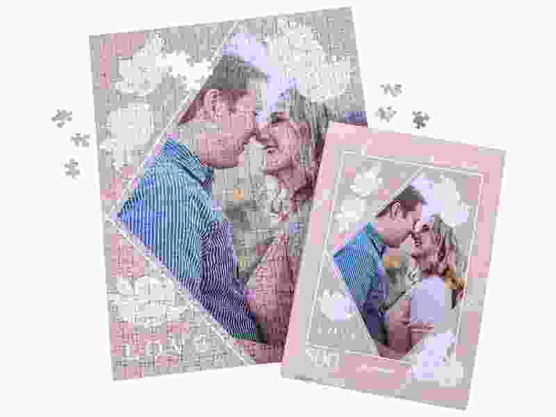Box photo puzzle 500 pieces couple