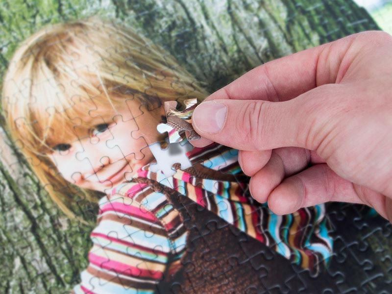 Photo puzzle punching technique