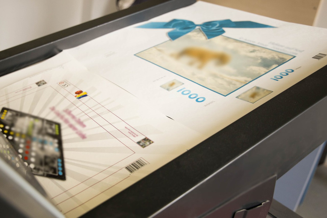 Photo puzzle box printing