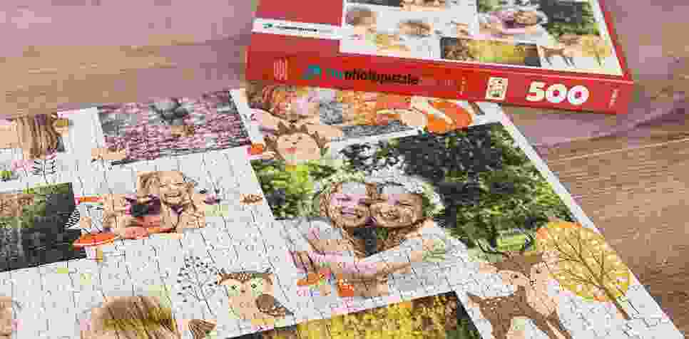 Teaser: Photo Puzzle with Illustration collage