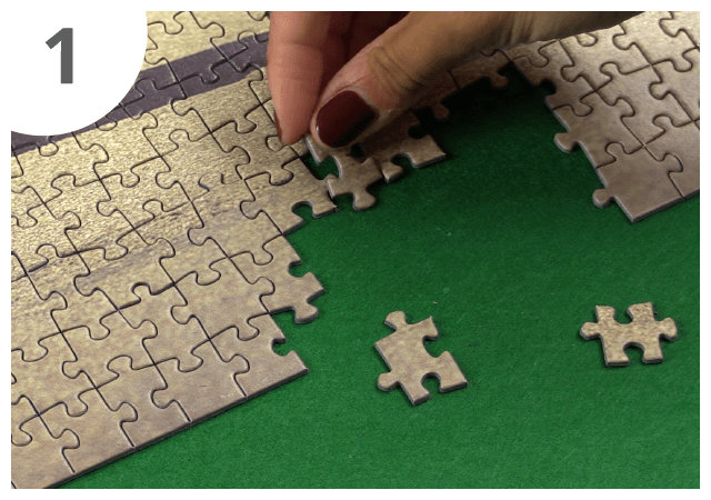 Instructions for puzzle mat - step 1