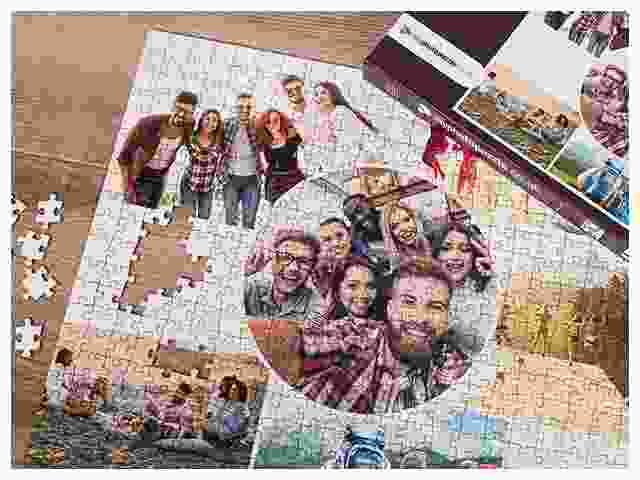 Photo puzzle collage