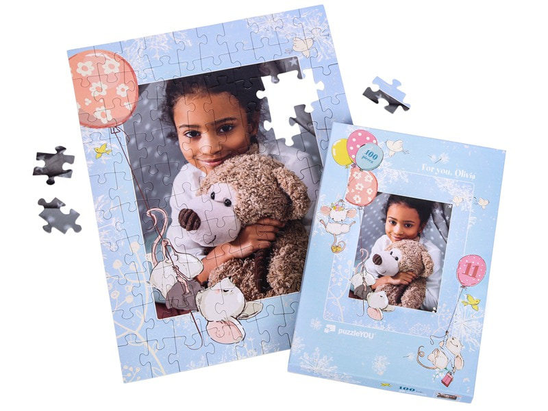 Box photo puzzle 100 pieces