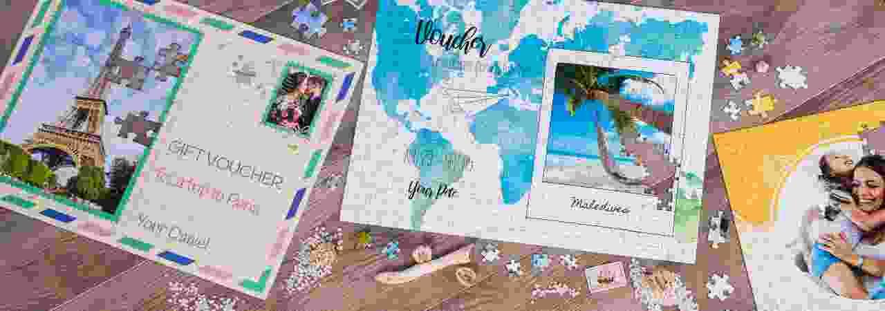 Gift voucher puzzle - travel
