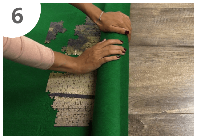 Instructions for puzzle mat - step 6
