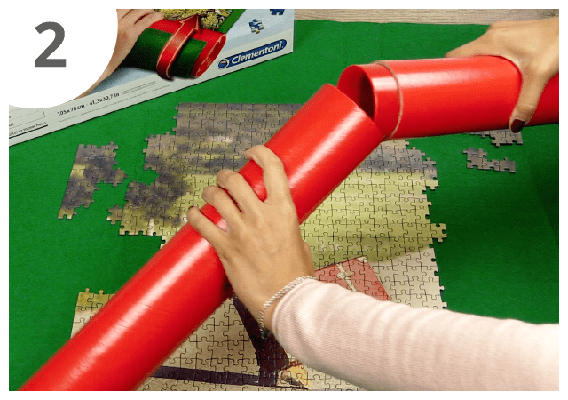Instructions for puzzle mat - step 2