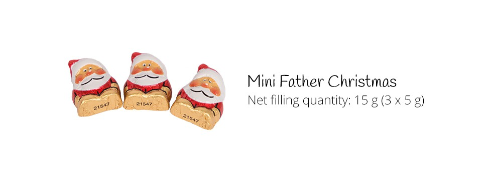 Mini Chocolate Father Christmas