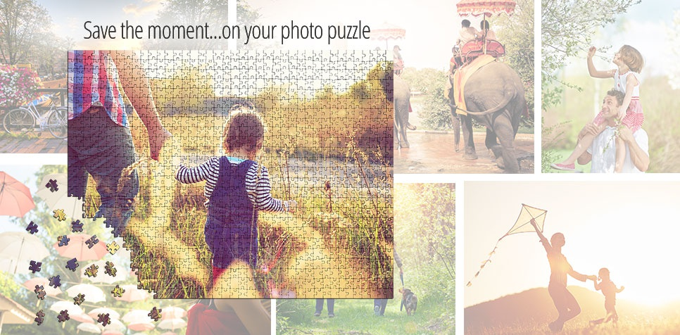 Save the moment on a photo puzzle