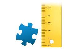 Size ratio puzzle piece photo puzzle 200 pieces
