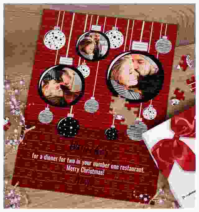 Gift Voucher Puzzle as Christmas present for your loved ones