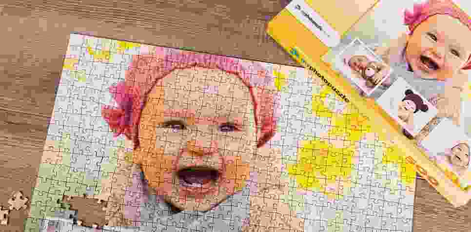 Teaser: Photo Puzzle with Own Background collage