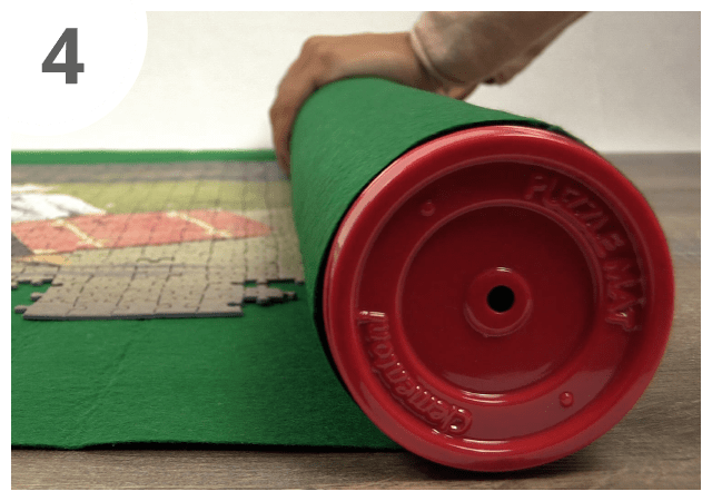Instructions for puzzle mat - step 4