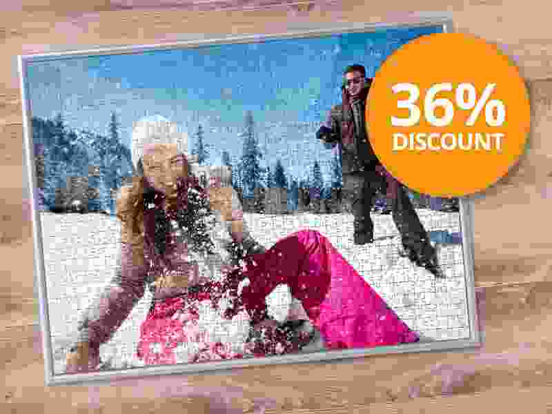 Save twice: Photo Puzzle with a tailor-made frame